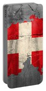 Switzerland Flag Country Outline Painted On Old Cracked Cement Portable Battery Charger