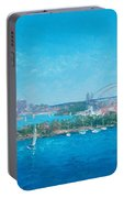 Sydney Harbour And The Opera House By Jan Matson Portable Battery Charger