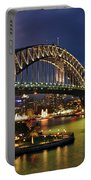 Sydney Harbour Bridge By Night Portable Battery Charger