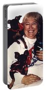 Sylver Short With Her Miniature Pinschers Christmas 2002-2008 Portable Battery Charger