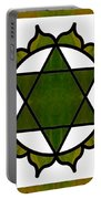Symbolic Serenity Abstract Chakra Art By Omaste Witkowski  Portable Battery Charger