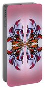 Symmetrical Orchid Art - Reds Portable Battery Charger
