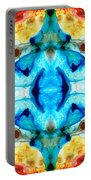 Synchronicity - Colorful Abstract Art By Sharon Cummings Portable Battery Charger