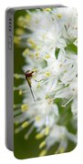Syrphid Feeding On Alliium Blossom Portable Battery Charger