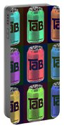 Tab Ode To Andy Warhol Black Portable Battery Charger
