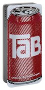Tab Ode To Andy Warhol Portable Battery Charger by Tony Rubino