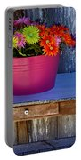 Table Top Flowers Portable Battery Charger