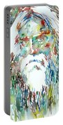 Tagore Watercolor Portrait Portable Battery Charger