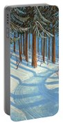 Tahoe Forest In Winter Portable Battery Charger