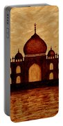 Taj Mahal Lovers Dream Original Coffee Painting Portable Battery Charger