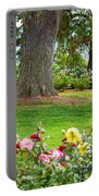 Take A Seat - Beautiful Rose Garden Of The Huntington Library. Portable Battery Charger