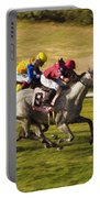 Taking Over - Del Mar Horse Race Portable Battery Charger