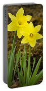 Tall Daffodils Portable Battery Charger