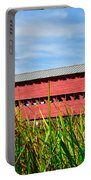 Tall Grass And Sachs Covered Bridge Portable Battery Charger