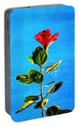 Tall Hibiscus - Flower Art By Sharon Cummings Portable Battery Charger