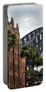 Tall Palms Before Beautiful Architecture Portable Battery Charger