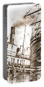 Tall Ship Assist Sepia Portable Battery Charger