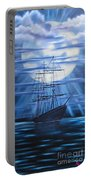 Tall Ship By Moonlight Portable Battery Charger