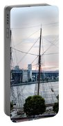 Tall Ship Gazela At Penns Landing Portable Battery Charger by Bill Cannon