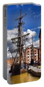 Tall Ship In Gloucester Docks Portable Battery Charger