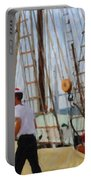 Tall Ship Sailor Duty Portable Battery Charger