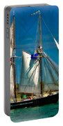 Tall Ship Vignette Portable Battery Charger