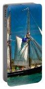 Tall Ship Vignette Portable Battery Charger by Steve Harrington