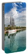 Tall Ships And Palm Trees - Impressions Of Barcelona Portable Battery Charger