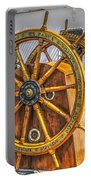 Tall Ships Wheel Portable Battery Charger