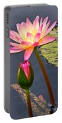 Tall Waterlily Beauty Portable Battery Charger