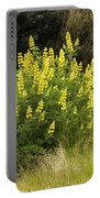 Tall Yellow Lupin Portable Battery Charger