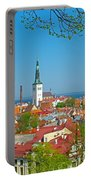 Tallinn From Plaza In Upper Old Town-estonia Portable Battery Charger