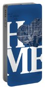 Tampa Street Map Home Heart - Tampa Florida Road Map In A Heart Portable Battery Charger
