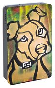 Tan Dog Portable Battery Charger