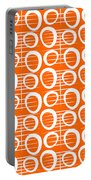 Tangerine Loop Portable Battery Charger by Linda Woods