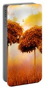 Tangerine Trees And Marmalade Skies Portable Battery Charger