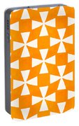 Tangerine Twirl Portable Battery Charger