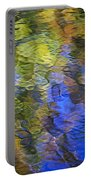 Tangerine Twist Mosaic Abstract Art Portable Battery Charger by Christina Rollo