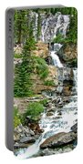 Tangle Falls Along Icefield Parkway In Alberta Portable Battery Charger