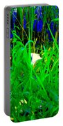 Tangled Garden On The Canal Canadian Art Montreal Landscapes Lachine Quebec Scenes Carole Spandau  Portable Battery Charger