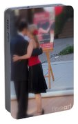 Tango Dancing On The Street Portable Battery Charger