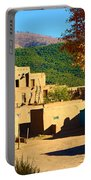Taos Pueblo South In Autumn Portable Battery Charger