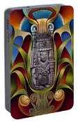 Tapestry Of Gods - Chicomecoatl Portable Battery Charger