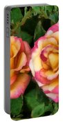 Tapestry - Roses And Thorns Portable Battery Charger