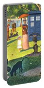 Tardis V Georges Seurat Portable Battery Charger