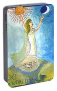 Tarot 21 The World Portable Battery Charger