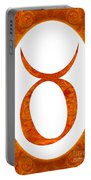 Taurus And Sacral Chakra  Abstract Spiritual Artwork By Omaste W Portable Battery Charger