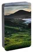 Tea Plantation At Dawn Portable Battery Charger