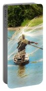 Teach A Man To Fish Portable Battery Charger