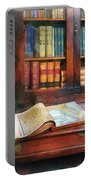 Teacher - Geography Book Portable Battery Charger by Susan Savad